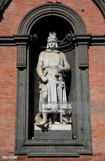 Statue of Federico II di Swabia at Palazzo Reale Palace of the Viceroys in Piazza del Plebescito Naples Campania Italy