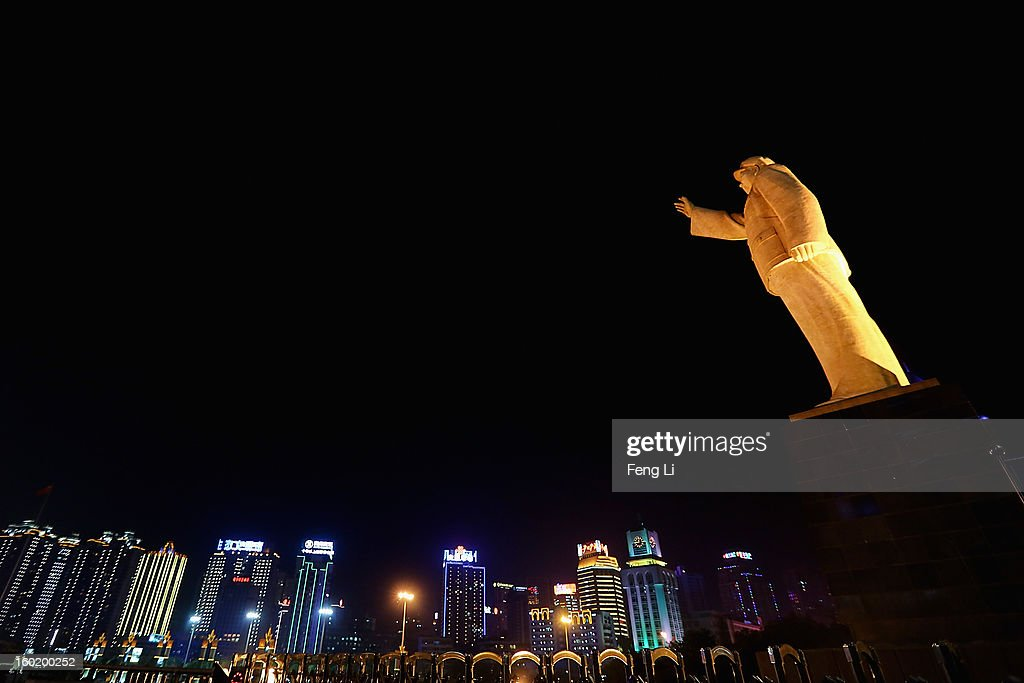A statue of former Chinese leader Mao Zedong is seen on January 27, 2013 in Guiyang of Guizhou Province, China.