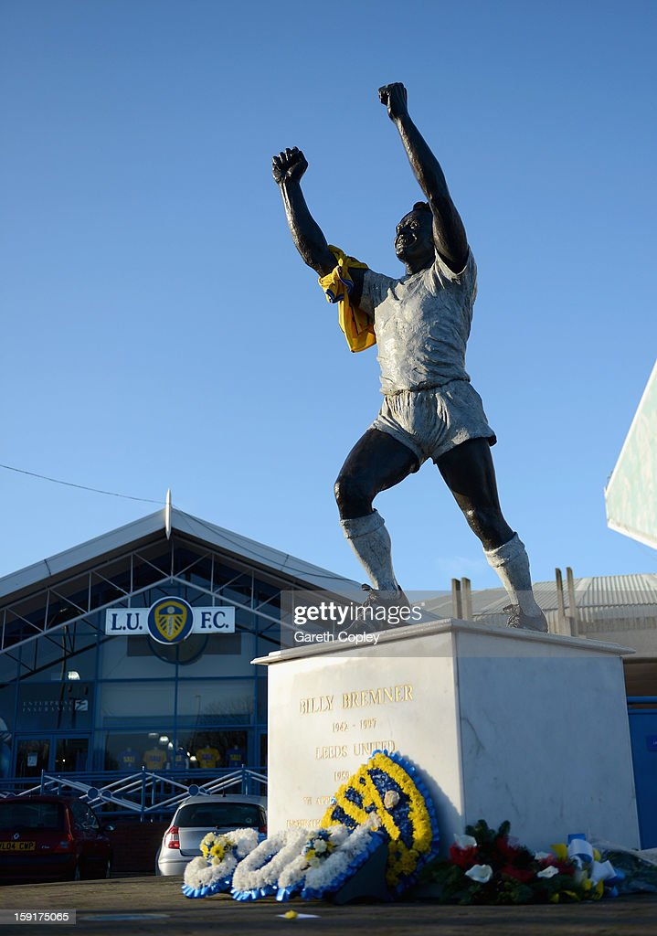 Statue of former Leeds United captain Billy Bremner outside Elland Road Stadium on January 9, 2013 in Leeds, United Kingdom.