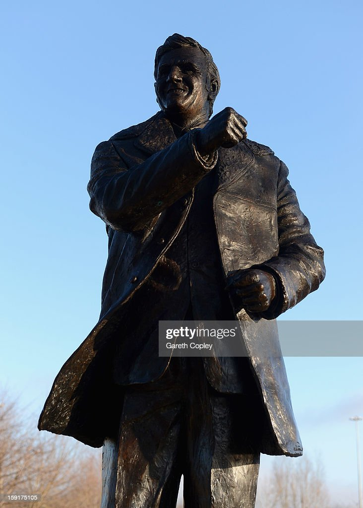 Statue of former Leeds United manager Don Revie outside Elland Road Stadium on January 9, 2013 in Leeds, United Kingdom.