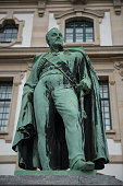 Statue of General Cal von Alten outside Waterloo House, Hannover, Germany.