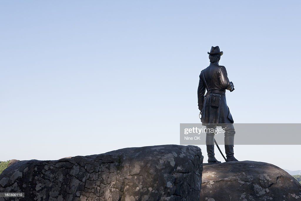 Statue of General Warren, Gettysburg : Stock Photo