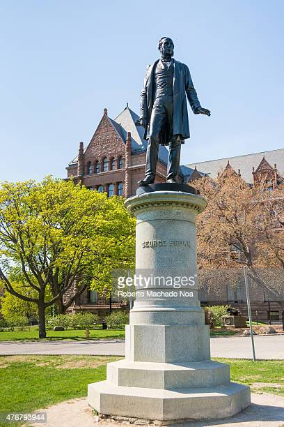 Statue of George Brown in the southern section of the Queen's Park in Downtown Toronto Ontario Canada George Brown was a Scottishborn Canadian...