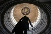 A statue of George Washington stands in the Rotunda of the US Capitol August 28 2012 on Capitol Hill in Washington DC It has been reported that the...