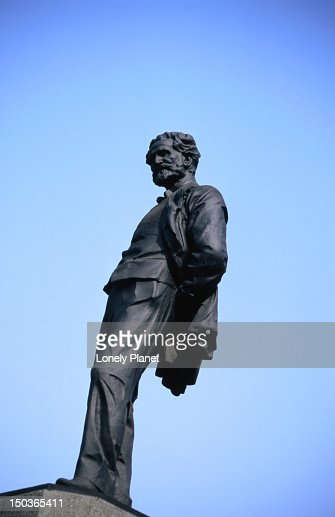Statue of Giuseppe Verdi outside his resting place.