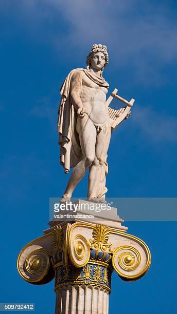 Statue de du dieu Apollon à Athènes, en Grèce-gros plan