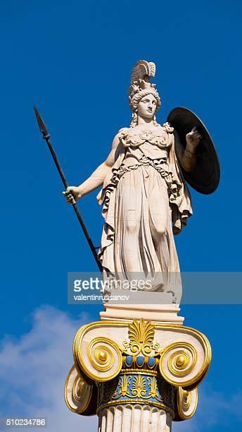 Statue de de la déesse Athena de l'Académie d'Athènes, en Grèce