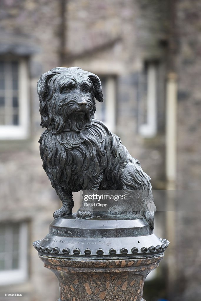 Statue of Grey Friars Bobby, Edinburgh : Stock Photo
