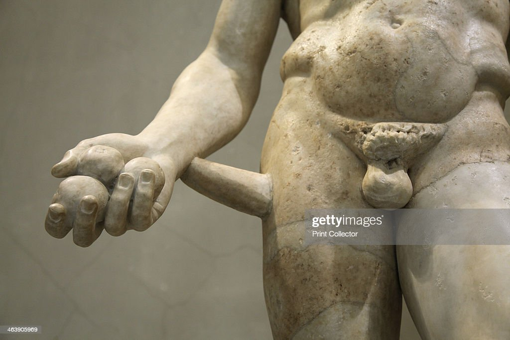 Statue of Heracles, 2nd century. Roman, after a Greek original of the mid 4th century BC. According to Greek mythology, Heracles, the son of Zeus and Alemene, was the greatest of the Greek heroes. Found in the collection of The Hermitage, St Petersburg.