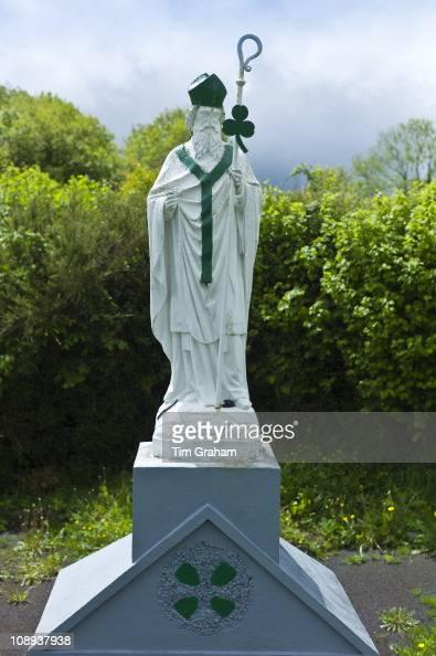 Statue of Irish patron saint St Patrick in Ballingarry County Limerick Ireland