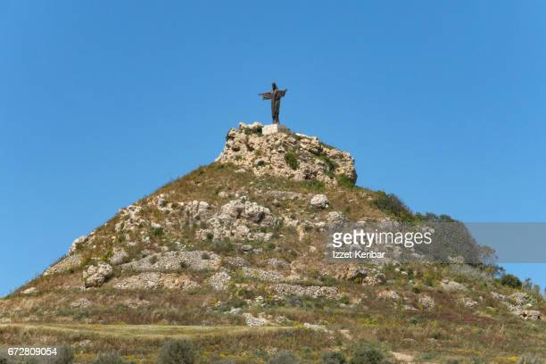 Statue of Jesus Christ on a Hill  in Gozo Island