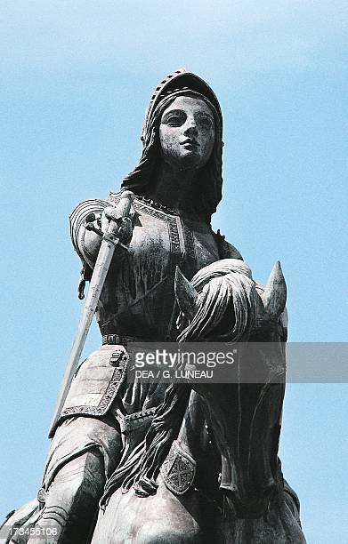 Statue of Joan of Arc in Place du Martroi Orleans Centre France