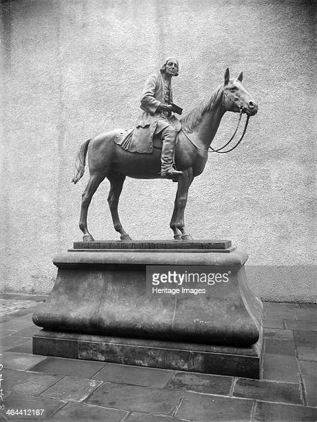 A statue of John Wesley Bristol Avon 1933 Depicted on horseback in the courtyard in front of Wesley's New Room Bristol Avon John Wesley was the...