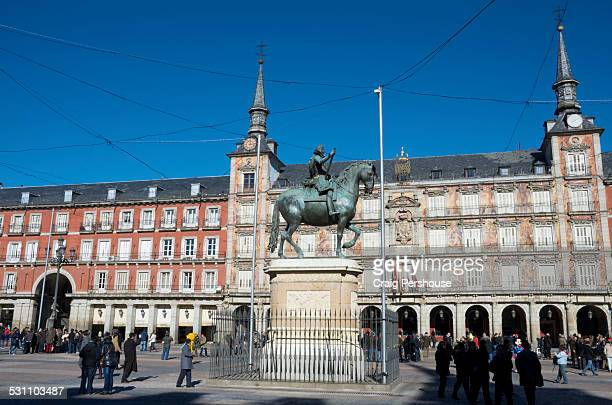 Statue of King Philip III in Plaza Mayor