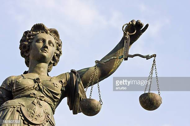 Statue of Lady Justice holding up scales