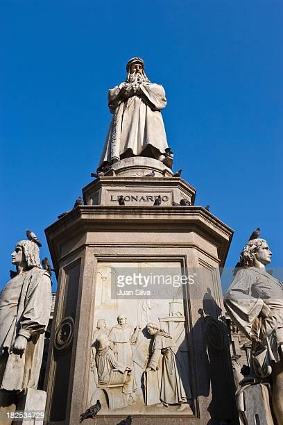 Statue of Leonardo da Vinci at Piazza della Scala
