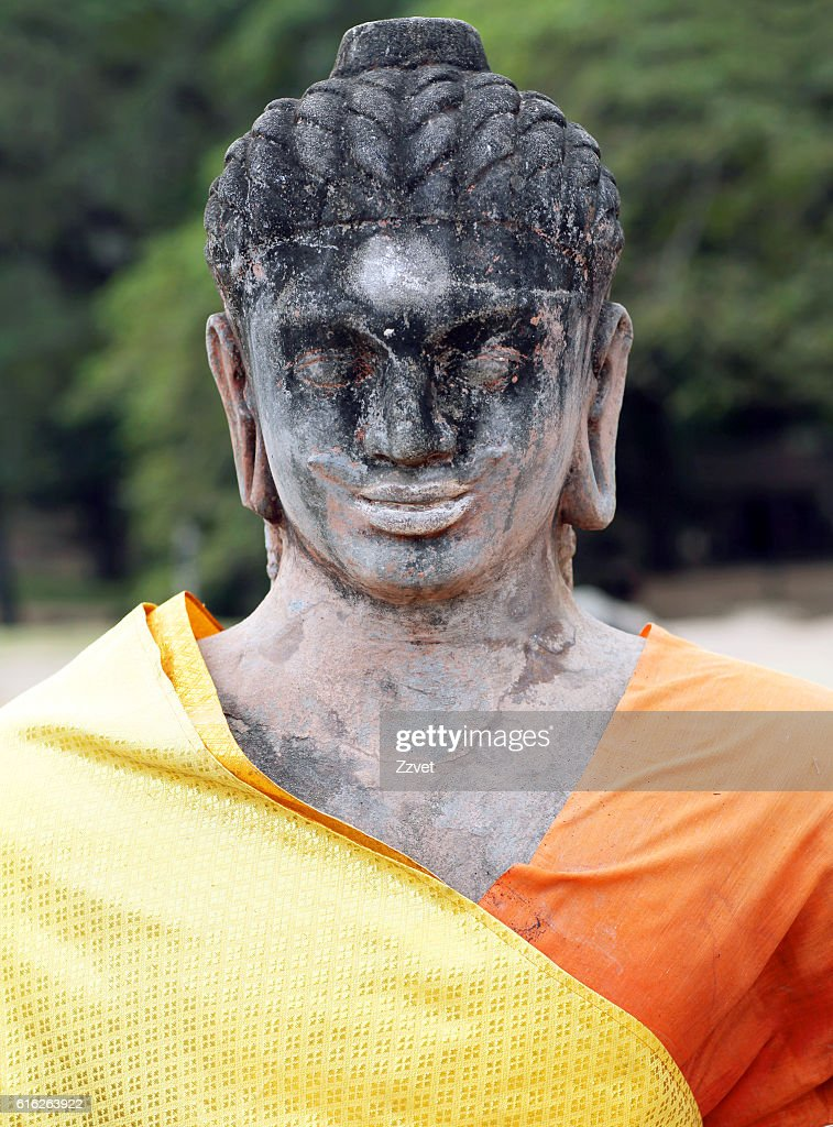 Statue of Leper King in Angkor Thom, Cambodia : Stock Photo