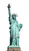 American symbol - Statue of Liberty. New York, USA..