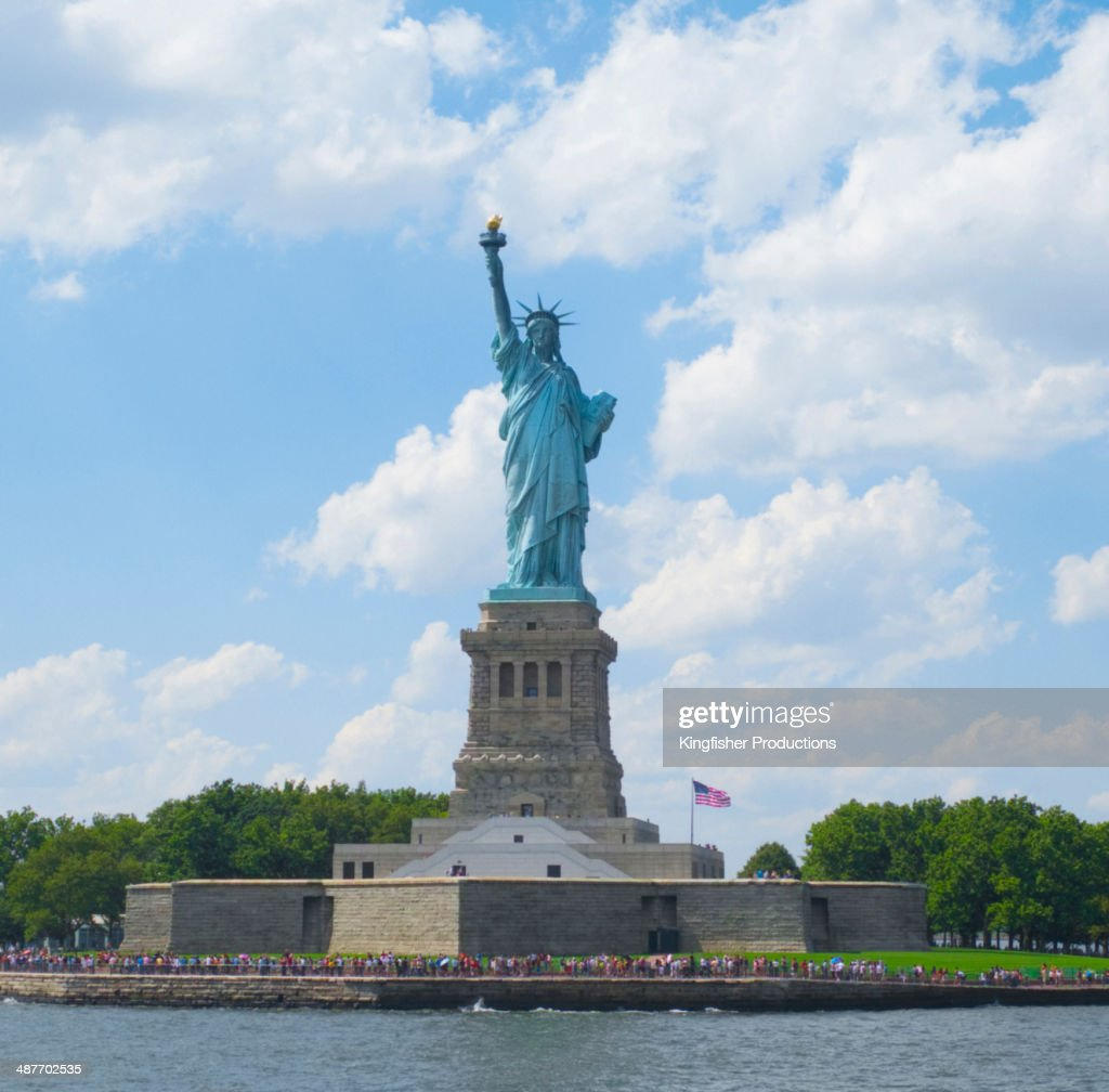 Statue of Liberty on Ellis Island, New York, New York, United States