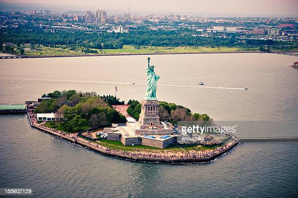 Estatua de la libertad visto desde arriba