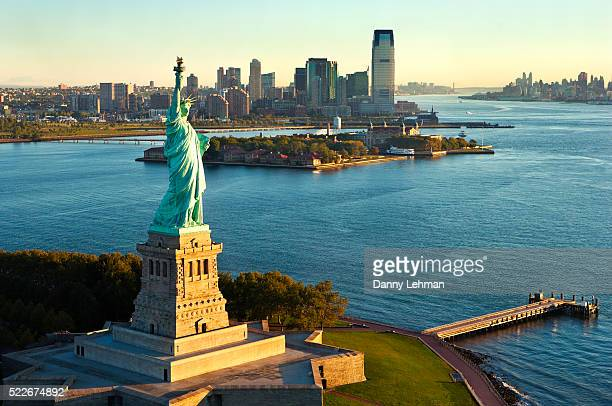 Statue of Liberty with Ellis Island, New York