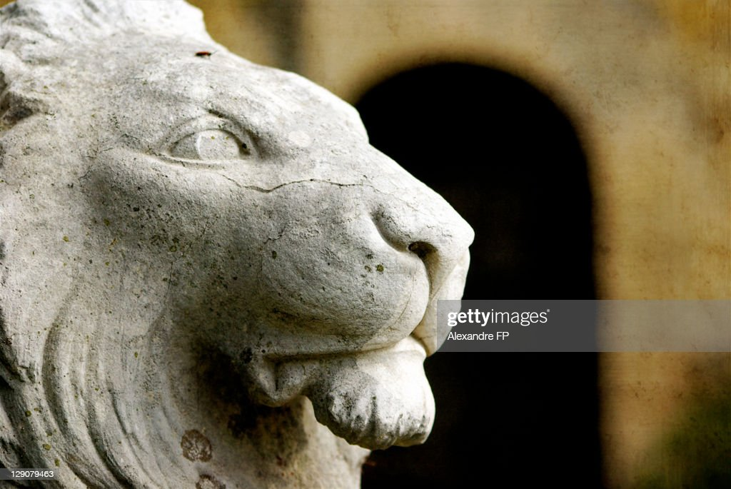 Statue of Lion in Luberon : Stock Photo