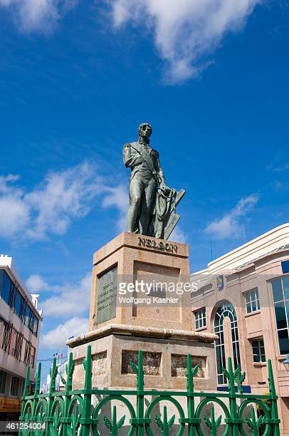 Statue of Lord Horatio Nelson in Bridgetown the capital city of Barbados an island in the Caribbean Lord Nelson is a British naval hero who defeated...