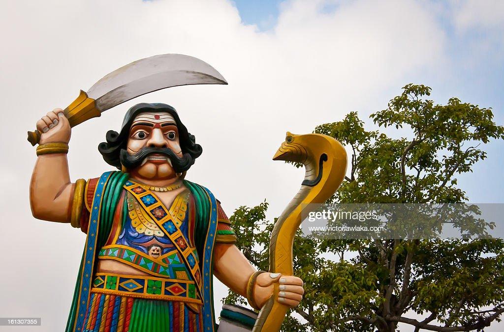 Statue of Mahishasura in Chamundi Hills, Mysore : Stock Photo