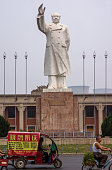 Statue of Mao Zedong in front of Luoyang YTO Group Corporation Founded in 1955 in accordance to Mao's direct ratification as the key project in...