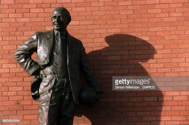 A statue of Matt Busby outside Old Trafford home of Manchester United