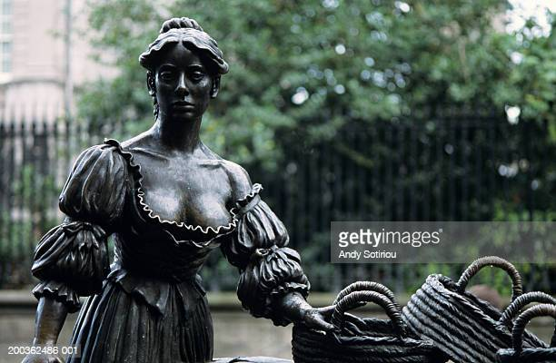 Statue of Molly Malone, Dublin, Ireland, close-up