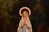 Statue of mother Mary in church