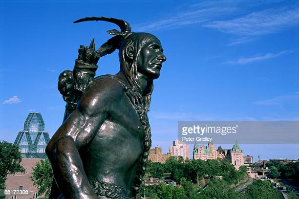 Statue of Native American, Major's Hill Park, Ottawa, Canada