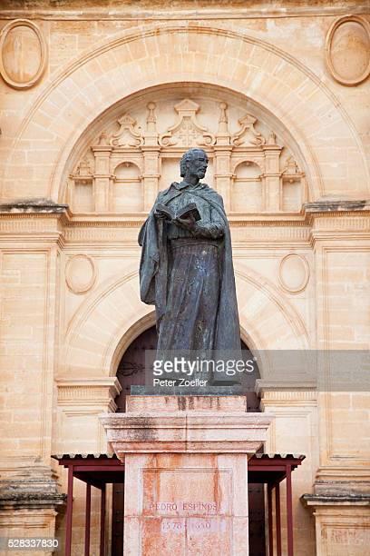 Statue of pedro espinosa; antequera andalucia spain
