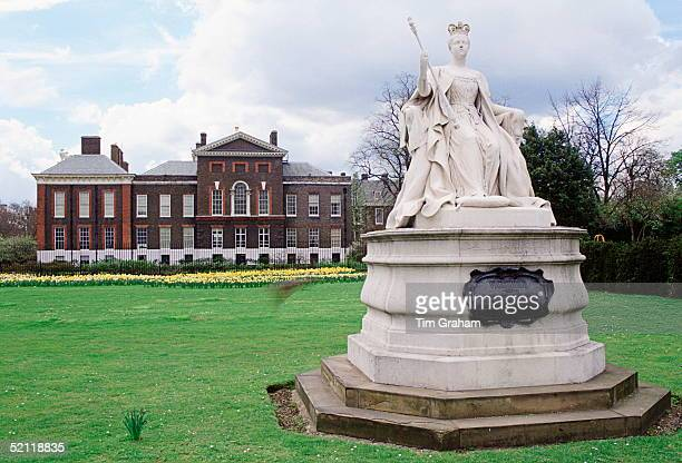 Statue Of Queen Victoria In The Background Is Kensington Palace