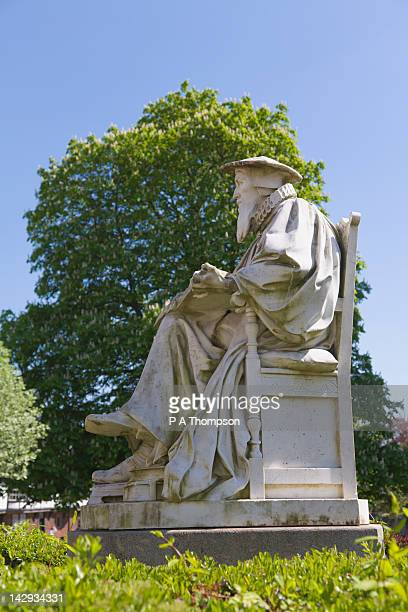 Statue of Richard Hooker, Exeter, Devon, England