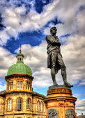 Statue of Robert Burns in Leith - Edinburgh, Scotland