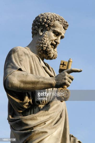 Statue of Saint Peter outside St Peter's basilica