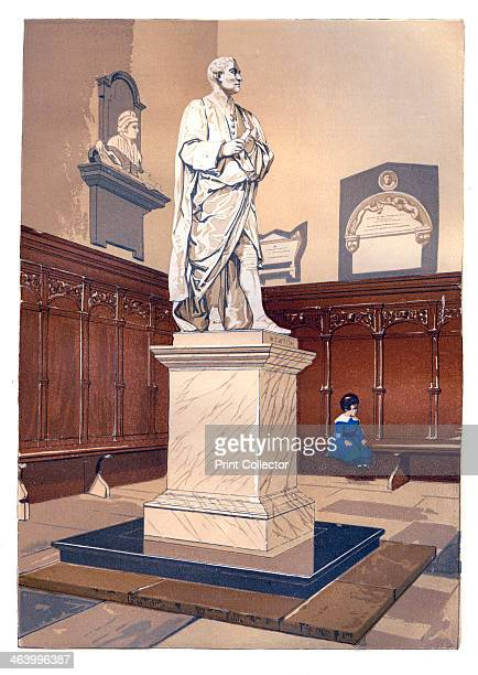 Statue of Sir Isaac Newton in the chapel of Trinity College Cambridge c1850 Newton's discoveries were prolific and exerted a huge influence on...