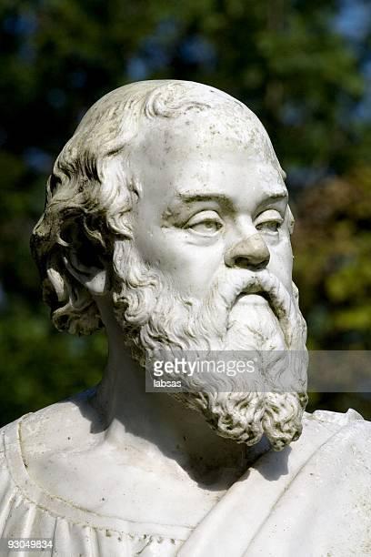 Statue von Sokrates.