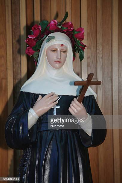 Statue of St Rita of Cascia at the church of Our Lady of Grace in Ontario Canada on 25 June 2016 Saint Rita of Cascia was an Italian widow and...