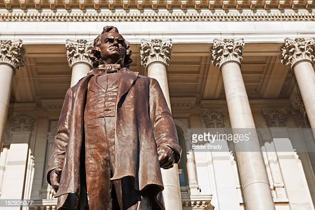 Statue of Stephen A. Douglas at Illinois State Capitol building.
