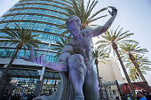 A statue of Superman on display outside ComicCon International Day 3 on July 22 2016 in San Diego California