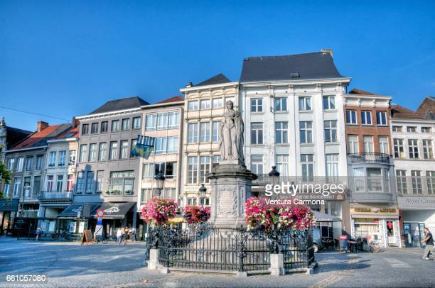 Statue of the Archduchess Margaret of Austria in Mechelen, Belgium