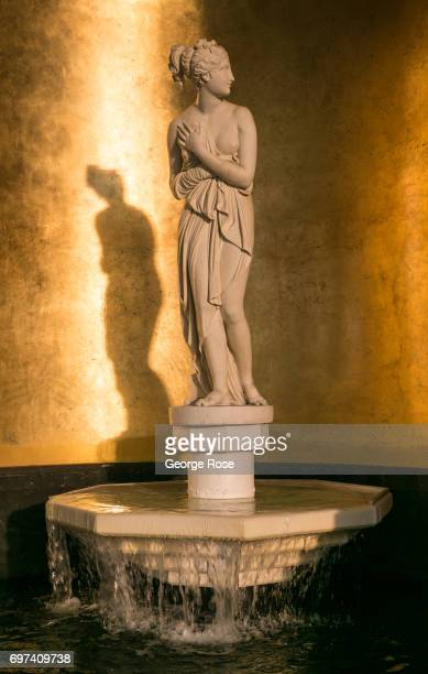 A statue of the goddess Diana is located in the outdoor car valet at Caesars Palace Hotel Casino as viewed on May 29 2017 in Las Vegas Nevada Tourism...