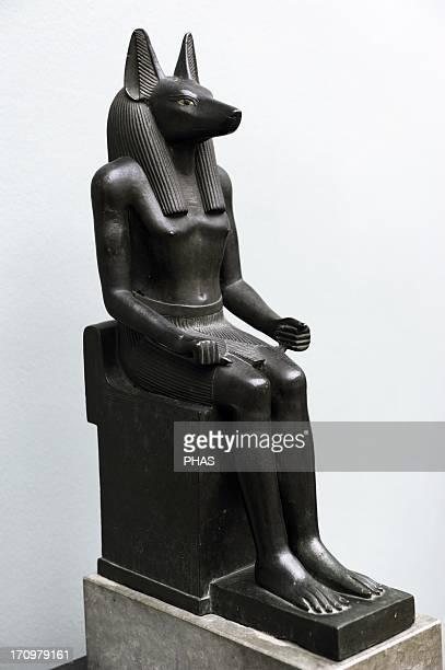 Statue of the jackalheaded god Anubis Bronze Probably 26th Dynasty Ancient Empire 664525 BC Ny Carlsberg Glyptotek Copenhagen Denmark