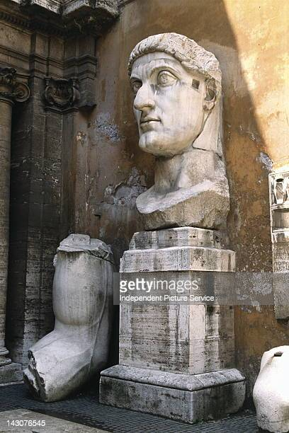 Statue of the Roman Emperor Constantine in the courtyardof the Capitoline Museum Rome