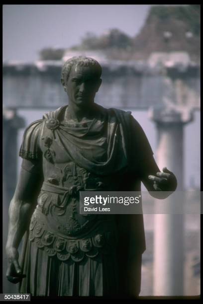 Statue of the Roman emperor Julius Caesar in the Forum