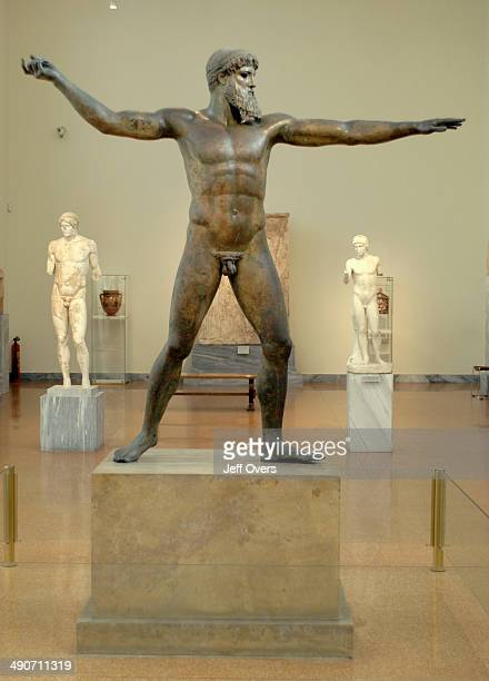 A statue of Zeus in the National Museum Athens