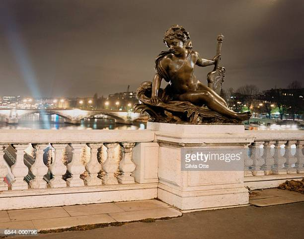 Statue on Bridge